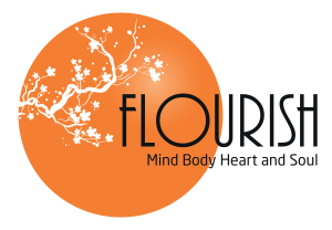 Flourish Logo Orange Circle